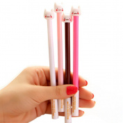 XyHana 4 PCS Kawaii Cat Gel Pens 0.5MM Fine Point Black Ink Korean Neutral Pen Stationery Office Supplies, Colour Random