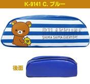 Rilakkuma Pen Case Small Pouch K-9141 Blue