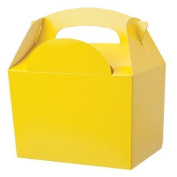 15 x Yellow Birthday Party Food Gift Boxes - Kids Lunch Food Meal Box