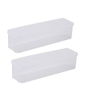 2x Da.Wa Rectangular Food Box Spaghetti Lasagna Box Cover Clear Storage Containge