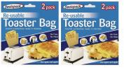 4 pack Reusable Toaster Toastie Sandwich Toast Bags Pockets Toasty Toastabags