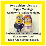 FUNNY MINIONS QUOTE 2 GOLDEN RULES - COASTER