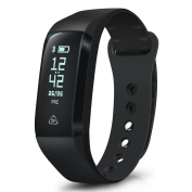 Smart Activity Tracker - August SWB200 - App Enabled Smart Health Wristband with OLED Display, Notifications, Huge 30 Day Battery Life & IP67 Waterproof -