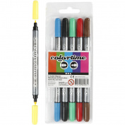 Colourtime Double Marker, 2,3+3,6 mm line, 6asstd