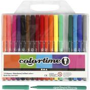 Colortime Marker, 2 mm line, asstd colours, 18asstd