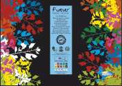 Forever Recycled Colour Paper Pad, 42x29.7cm, 130g, 30 sheets - Assorted Colours