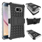 DRUnKQUEEn S7 Case, Galaxy S7 Case, Armorbox Hybrid Dual Layer Combo Full Body Heavy Duty Protection Armour Defender Protective Shock Reduction Bumper Case Holster with Kickstand for Samsung Galaxy S7