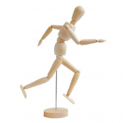 30cm Wooden Male and Female Unisex Mannequin Joint Dolls