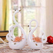 GFEI Home Furnishing decoration decoration den / couple wedding gift gifts / crafts Swan suit,B