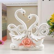 GFEI Swan ornaments wedding gifts / crafts / ceramic decorations Swan