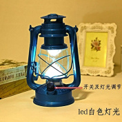 GFEI Iron Retro Portable ice dry battery lantern outdoor camping lights/outdoor camping tent lights household emergency lighting decorations, C