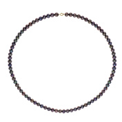 Colours & Pearls Necklace 9 Carat 375 Yellow Gold 42 CM Cultured Tahitian WK- on - 9CC45–Ar-Bl