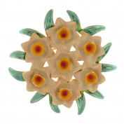 Brooches Store Enamel Seven Daffodil Flower Corsage Bouquet Brooch