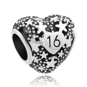 Sug Jasmin Sweet 16 Charm 16th Birthday Beads For Bracelets