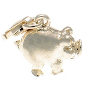 Welded Bliss Sterling 925 Silver Happy & Fat Spoilt Pig Clip On Charm WBC1460
