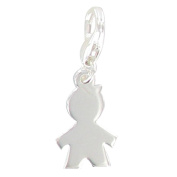 Les Poulettes Jewels - Charms Bracelet School Boy Sterling Silver- with Lobster Clasp