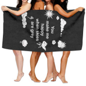Beach Towel You Make Me Happy When Skies Are Grey 200cm X 330cm Soft Lightweight Absorbent For Bath Swimming Pool Yoga Pilates Picnic Blanket Towels