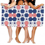 Beach Towel USA Flag And Star 200cm X 330cm Soft Lightweight Absorbent For Bath Swimming Pool Yoga Pilates Picnic Blanket Towels