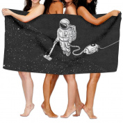 Beach Towel Astronauts Clean The Moon 200cm X 330cm Soft Lightweight Absorbent For Bath Swimming Pool Yoga Pilates Picnic Blanket Towels