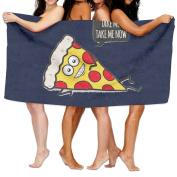 Beach Towel Funny & Cute Delicious Pizza Slice Wants Only You 200cm X 330cm Soft Lightweight Absorbent For Bath Swimming Pool Yoga Pilates Picnic Blanket Towels