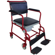 Toilet chair with wheels | Model Anchor | Steel | Seat Width