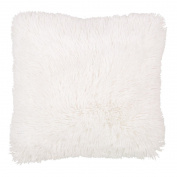 Living & Co Limited Edition Cushion Shaggy Faux Fur White 43cm x 43cm