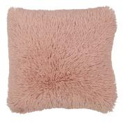 Living & Co Limited Edition Cushion Shaggy Faux Fur Pink 43cm x 43cm