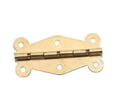 Kingwin 6pcs Butterfly Style Cabinet Box Showcase Hinge Hardware Accessories - Golden