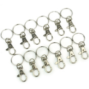 ULOOIE 12 x Lobster Clasps Swivel Trigger Clips Snap Hooks Bag Key Ring Charms Findings DIY Accessaries