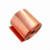 YOUMU 0.1x1m Pure Copper Foil Metal Copper Sheet Plate Guillotine Cut Material Two 0.05mm Thickness