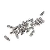 Omeny 20 Pcs DIY Metal Screw Clasp for Necklace