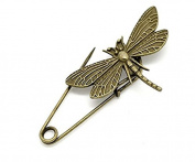 TFXWERWS Vintage Bronze Lady Fashion Elegant Dragonfly Brooch Pin
