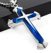 TFXWERWS Creative Cross Pendant Chain Stainless Steel Cross Pendant Necklace Chain