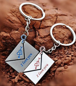 Haahaha Lovers Letter I Love You Metal Alloy Key Ring Key Chain