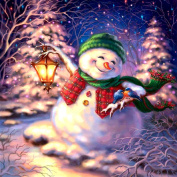 DIY 5D Diamond Painting, Crystal Rhinestone Diamond Embroidery Paintings Pictures Arts Craft for Home Wall Decor Single Dog Snowman 30cm X 30cm