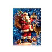 Gemini_mall® Christmas Santa Claus DIY 5D Diamond Rhinestone Pasted Embroidery Painting Cross Stitch Kit Christmas Home Decor