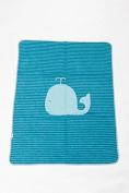 David Fussenegger Juwel Whale Striped Turquoise 6801/23 Children's Blanket for Babies