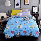 Ustide Children Fine Food Duvet Cover with Pillowcase Bedding Set, Multi, Double