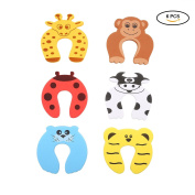 Umiwe 6 Pcs Shock Absorber Door Stops Anti-pinch Protect Fingers with Animal Cartoon Shapes