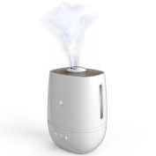 Motorola Smart Nursery Humidifier + – Connected with Air and Water Purification Humidifier, White