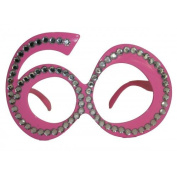 Party Glasses Birthday 60th Pink