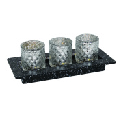 Led Battery Operated Tea Light Candles Home Decoration Ornament Gift Set Silver