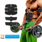 Abdominal Toning Belt, Muscle Toner ABS Stimulator Training Ab Belt Trainer Fitness Equipment with 10 Gel Pads for Abdomen/Arm/Leg for Men & Women Suitable Home Office & Outdoor