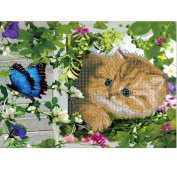 DIY Diamond Painting Rhinestone 5D Embroidery Cross Stitch Arts for Craft Home Decoration Cat and Butterfly