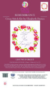 Creative World Of Crafts Lest We Forget Elizabeth Davies Remembrance Counted Cross Stitch Kit, Fabric, Multi-Colour, 31 x 18 x 1 cm