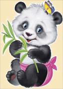 5D DIY Diamond Painting Kit, Eat Pheasant Panda Rhinestone Embroidery Cross Stitch Set Arts Craft For Home Wall Decor 11.8*15.7 inch