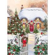 Bescita 30*40cm Christmas DIY Diamond Rhinestone Pasted Embroidery Painting Cross Stitch Home Room Decor