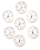 Flower Detail Button - Incandescent - 13mm