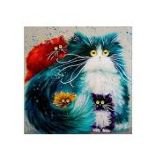 DIY 5D Diamond Painting Cat Pattern Cross Stitch Embroidery