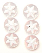 Flower Detail Button - Incandescent - 16mm